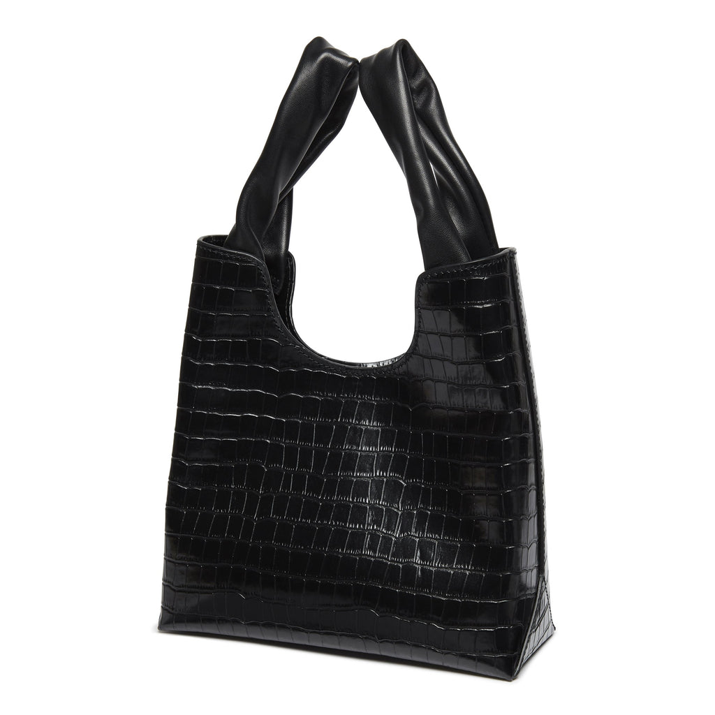 Shopper <span>Croco Embossed Leather Black</span>