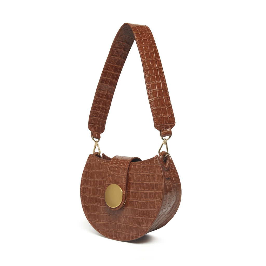 Tambour <span>Croco Embossed Leather Cognac</span>