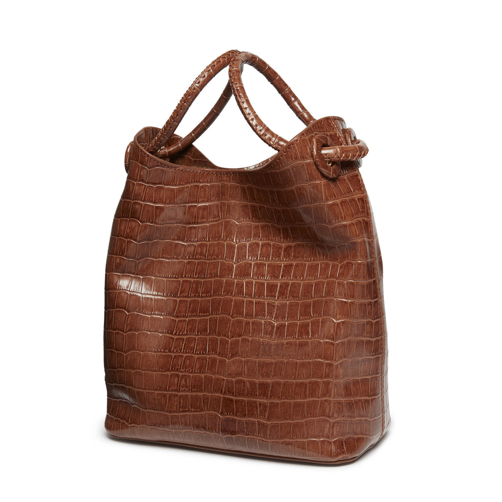 Small Vosges <span>Croco Embossed Leather Cognac</span>