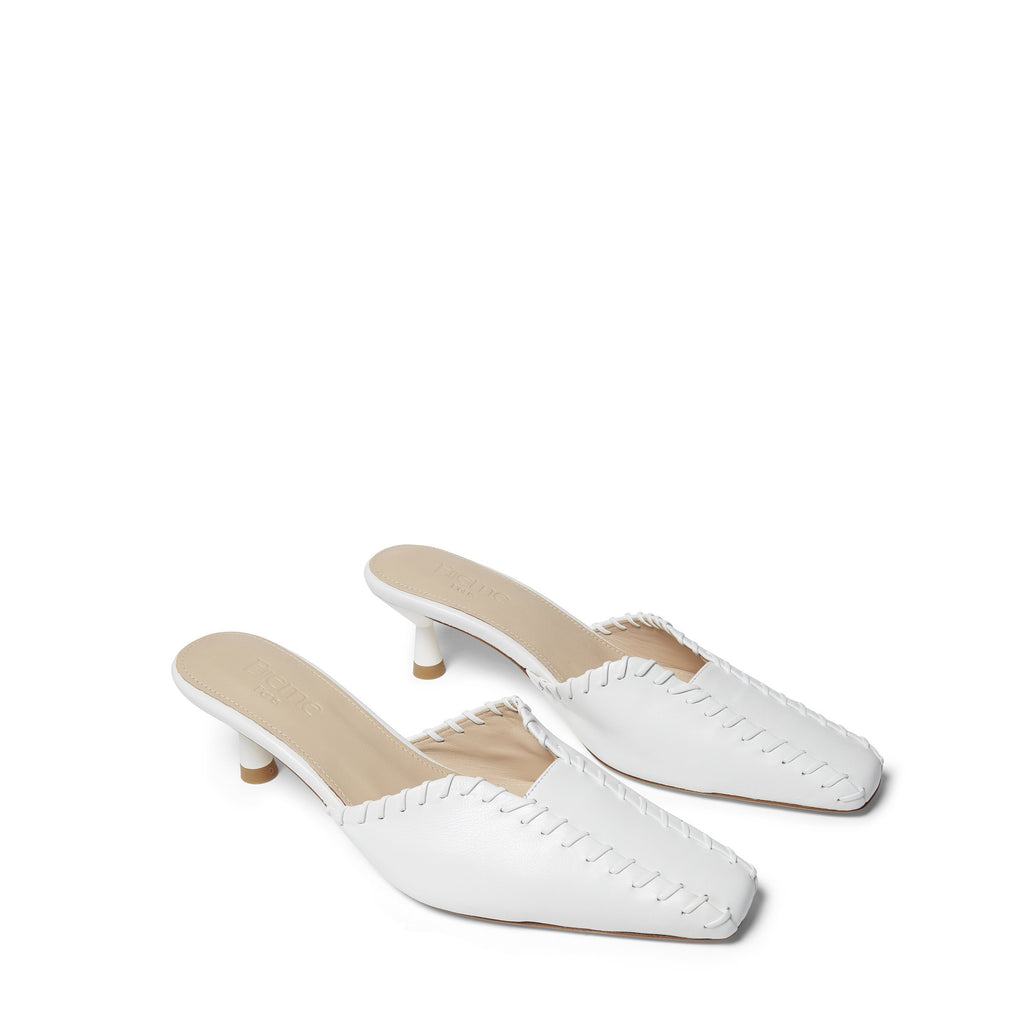 Mules Stitch<span>White<span>