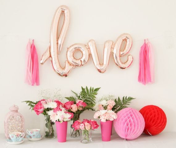 """Love"" Foil Balloon, 6 Colours Available"