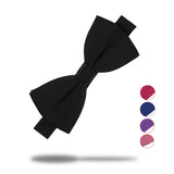 Mens Solid Colour Bow Tie, 16 Colours Available