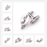 Men's Wedding Title Cufflinks - Groom, Best Man and 11 Other Variants Available