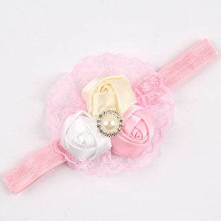 Babies Flower and Lace Vintage Headband