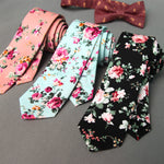 Mens Floral Slim Tie, 14 Styles Available