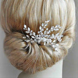 Vintage Gold or Silver Rhinestone Crystal Bridal Hair Comb
