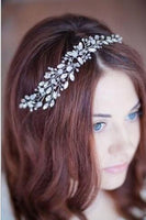 Silver Crystal Bridal Hair Piece