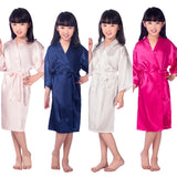Children's Satin Bridesmaid Robe, 8 Colours Available, M-4XL