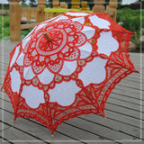 Lace Wedding Parasol, Available in 7 Colours