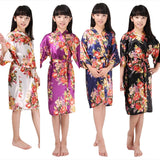Children's Floral Print Bridesmaid Robe, 8 Colours Available, M-4XL