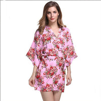 Floral Print Cotton Bridesmaid Robe, 8 Colours Available, Small or XLarge