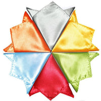 Mens Solid Colour Pocket Squares, 20 Colours Available