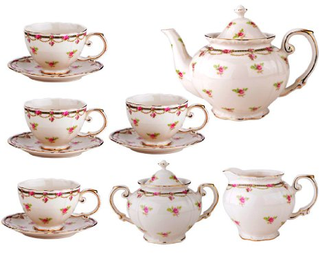 Traditional Floral Tea Set