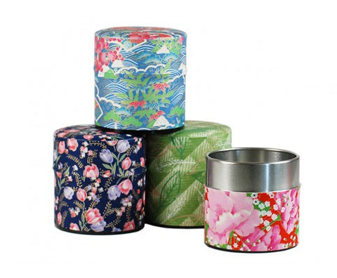 WASHI SASHI TEA STORAGE TIN