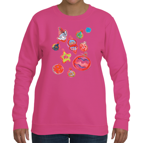 GoorooV Ornament Women's Crew Neck Long Sleeve - ParisMETROCouture.com