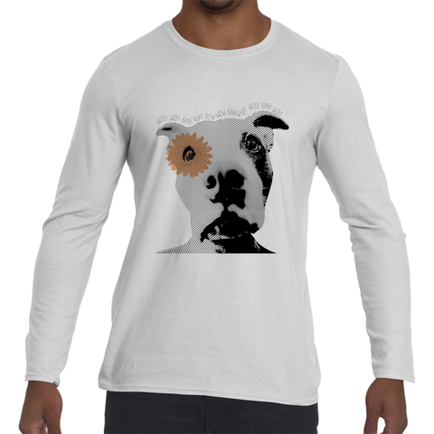 GoorooV Peace Dog Crew Neck Long Sleeve - ParisMETROCouture.com