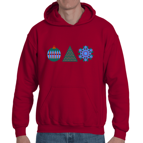 Fleece Hoodie- Modern Holiday Graphic Men's Sweat Shirt