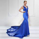 The Exquisite Beauty, a Lace and Satin Evening Gown - ParisMETROCouture.com