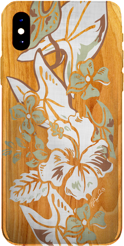 PMC iPhone 8 Case - Hawaiian Tropical in Light Wood - ParisMETROCouture.com