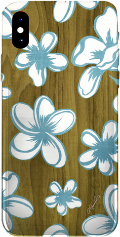 PMC iPhone 8 Case - Hawaiian Wood Plumeria - ParisMETROCouture.com