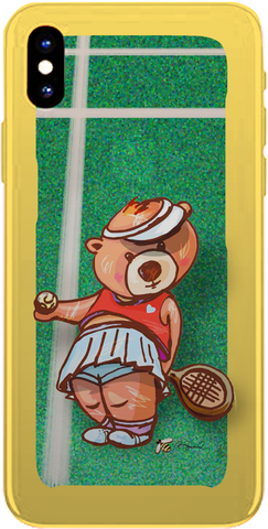 PMC iPhone 8 Case - Madison Bear-Tennis - ParisMETROCouture.com
