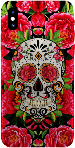 PMC iPhone 8 Case - Sugar Skull Red - ParisMETROCouture.com