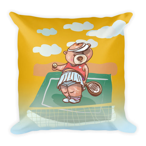 Madison Bear - Tennis Square Pillow
