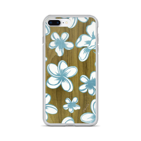 Hawaiian Tossed Flowers on Wood Cell Phone Case - Fits iPhone X and Other Sizes 5-X