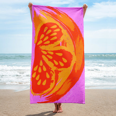 Sweet Orange Slice Towel