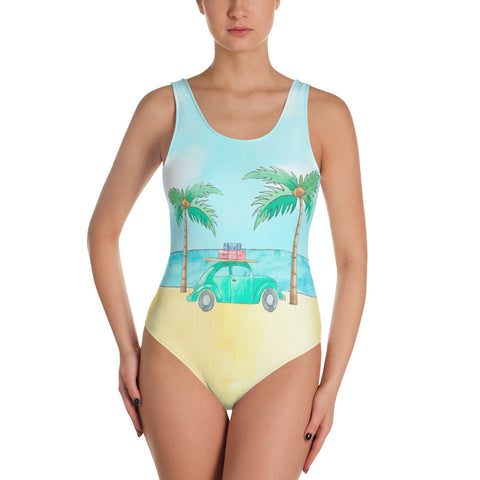 Bug Beach Bound - One-Piece Swimsuit