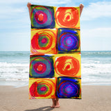 Circle in a Square Beach Towel