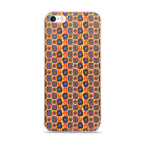 Circle in a Square - Warm Tones  Fits iPhone X Case and Other Sizes