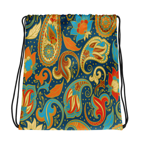 Paisley Power Drawstring bag