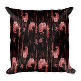Carnation Salsa in Pinks Square Pillow