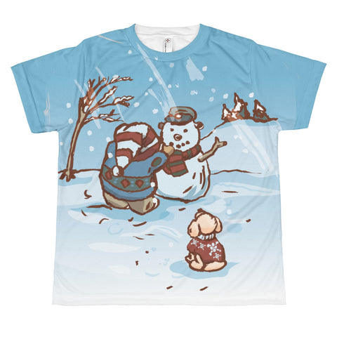 Madison Bear - Snowman All-over youth sublimation T-shirt