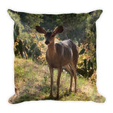 The Deer by C. Kellerher Square Pillow
