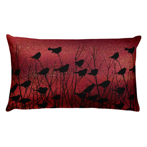 Shadow Birds on Port - Rectangular Pillow