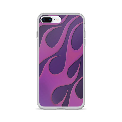 HotRod Purple Flame Cell Phone Case - Fits iPhone X and Other Sizes 5-X