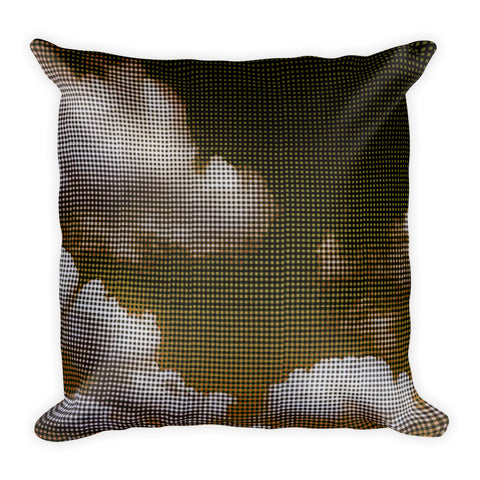 My Head is in the Clouds - Gold Square Pillow
