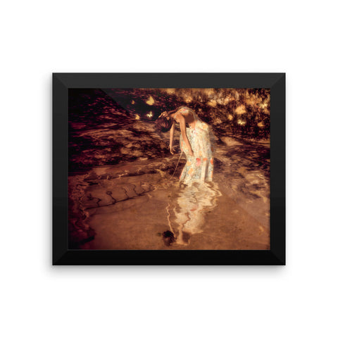 Water Petals by Amanda Magick Framed photo paper poster