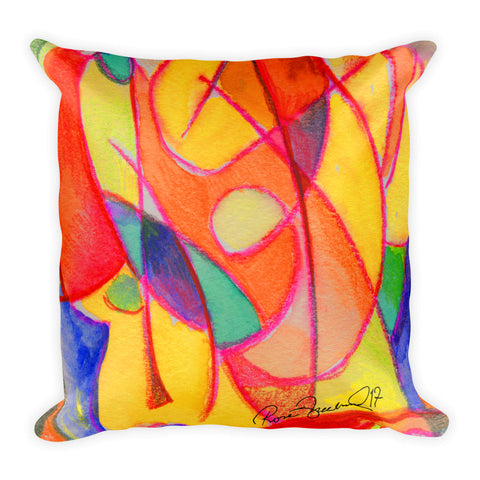 Abstraction Beach by R.Freeland Square Pillow