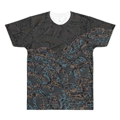 Paris METRO Couture: The Sea Grey All-Over Printed T-Shirt - ParisMETROCouture.com