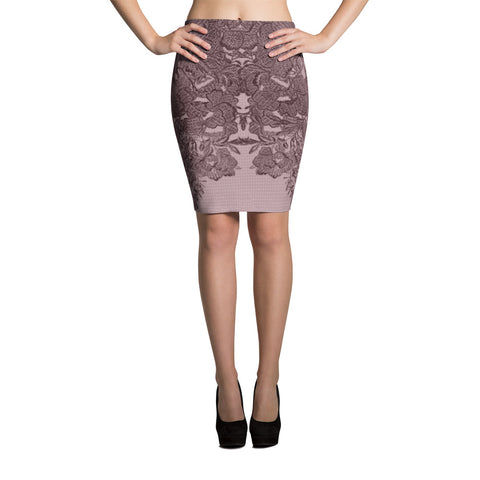 Mon Amour Pencil Skirt - Pencil Skirt - Winter Pink