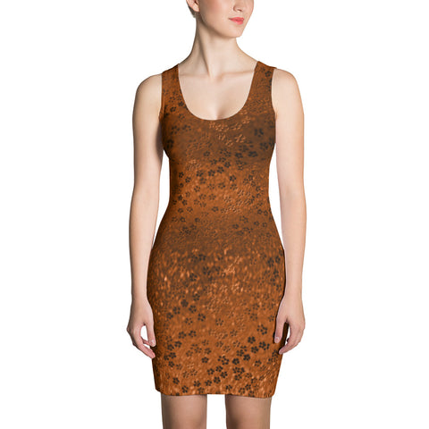 Paris METRO Couture: On My Way Little Flower Dress in Maple - ParisMETROCouture.com