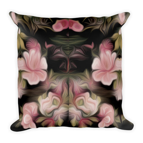 Night Blooming Flowers Square Pillow