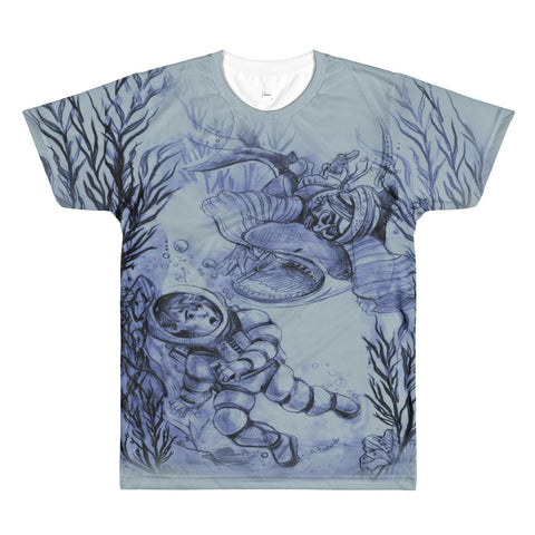 Paris METRO Couture: The Art of R. Freeland-Boy and the Sea T-Shirt - ParisMETROCouture.com