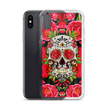 Sugar Skull- Red Vintage Cell Phone Case - Fits iPhone X and Other Sizes 5-X