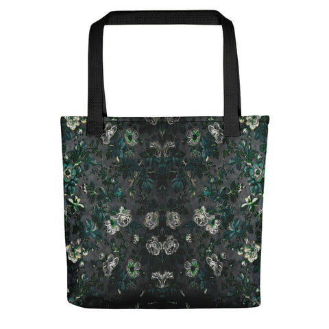 Boho Floral White Rose Vintage Tote bag