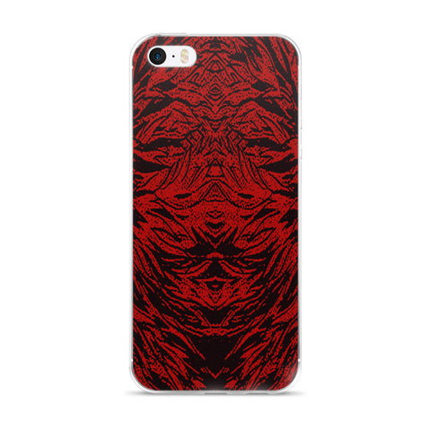 Abstraction Petal in Red Cell Phone Case - Fits iPhone X