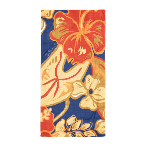 Hawaiian Vintage Tropical Beach Towel